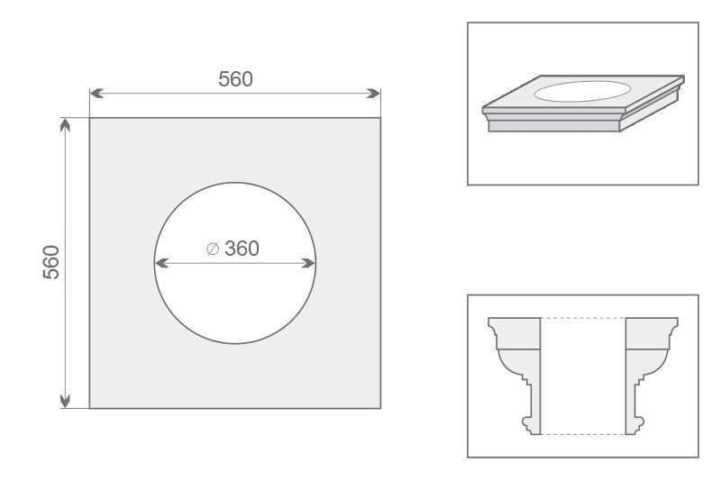 Architraw kolumny AK1/350