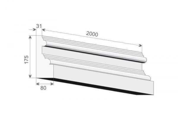 Baza pilastra elewacyjnego BP1/250