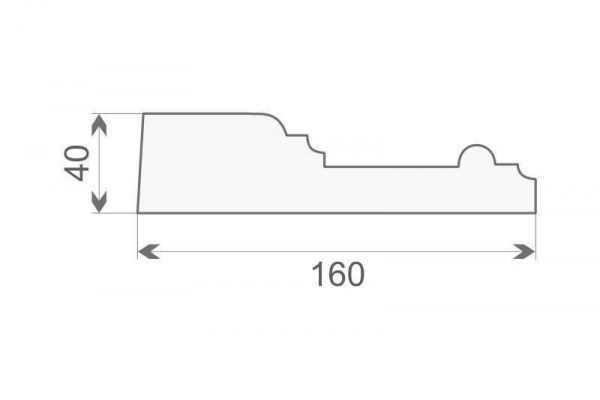 Gzyms elewacyjny ozdobny GE-17A