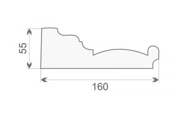 Gzyms elewacyjny styropianowy GE-10A