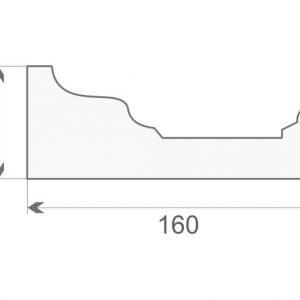Gzyms elewacyjny styropianowy GE-16