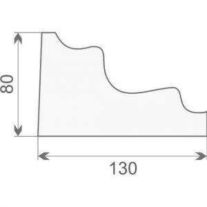 Gzyms elewacyjny styropianowy GE-9