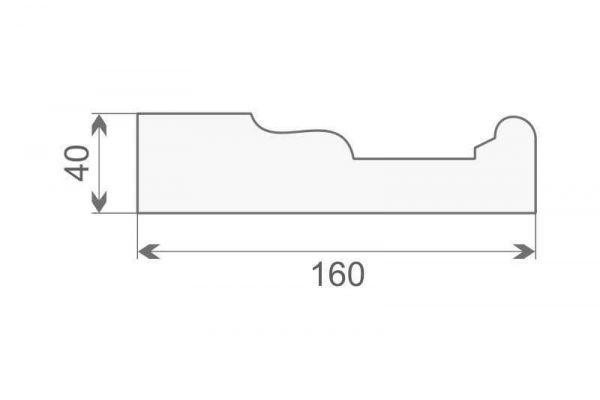 Gzyms elewacyjny styropianowy GE16A