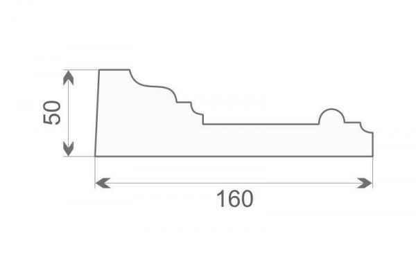 Gzyms elewacyjny styropianowy GE17