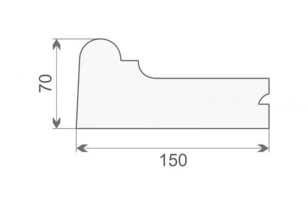 Gzyms elewacyjny ze styropianu GE8