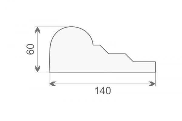 Gzyms ozdobny elewacyjny GE18