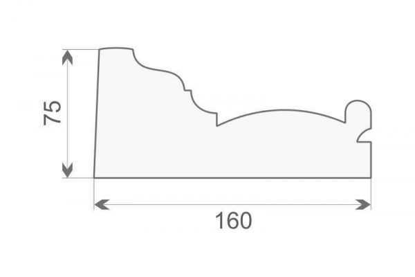 Gzyms styropianowy GE-10