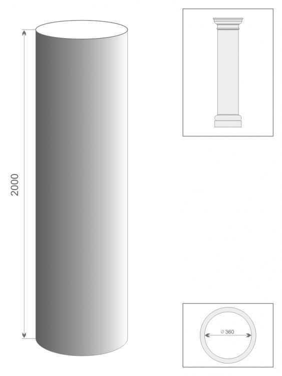 Kolumna prosta TK3/350