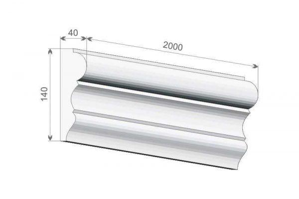 Listwa elewacyjna okienna LE-31