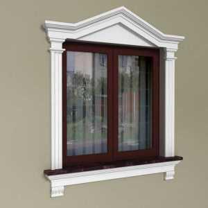 Oprawa okna ze sztukaterii - Zestaw dworkowy ZD3