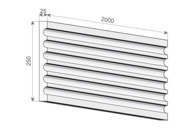 Trzon pilastra - PE-1/250