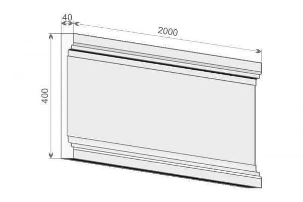 Trzon pilastra PE2/400