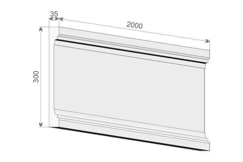Trzon pilastra styropianowego PE2/300